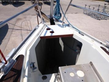 Anchor locker under construction