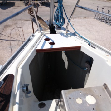 Anchor locker under construction