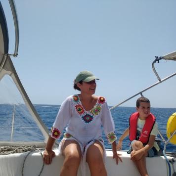 Clara sailing