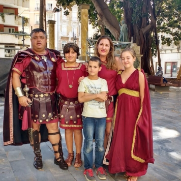 Roman family at the festival