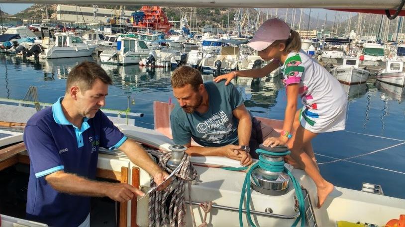 Soledad crew at sailing living lab
