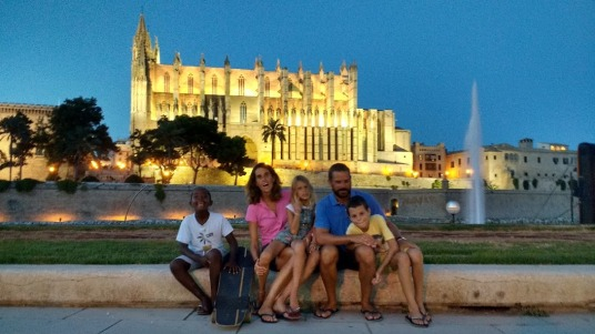 Crew at Majorca cathedral