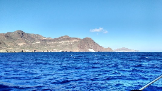 Cabo de Gata from the sea