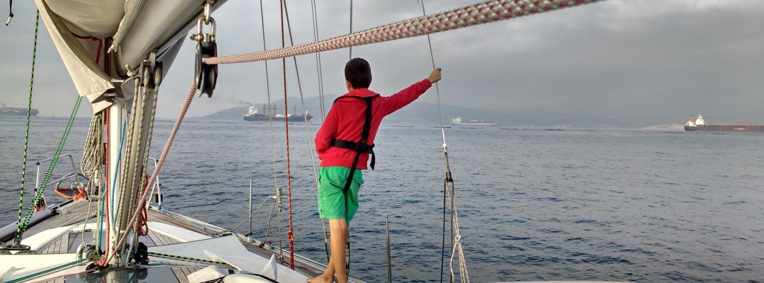 Ready to pass Gibraltar strait