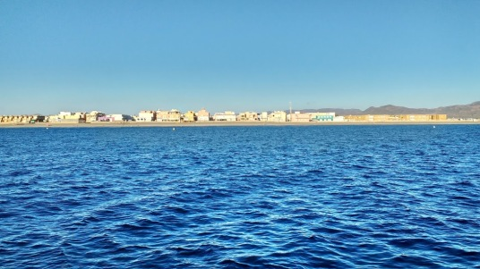 San Miguel Cabo de Gata from the Sea