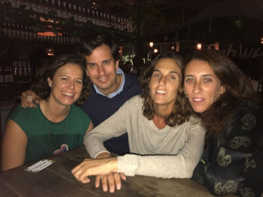 School friends visit at Puerto Sherry