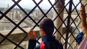 kids visiting cathedral