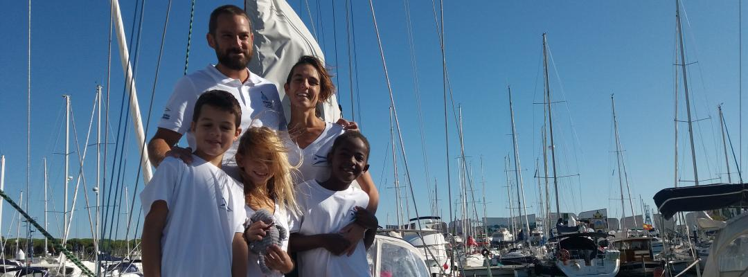 Sailing vessel Soledad crew at Puerto Sherry