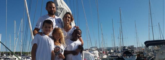 Sailing vessel Soledad crew at Puerto Sherry