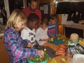 Soledad and Ventus crew preparing dinner