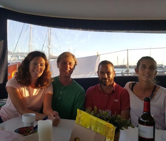 Ventus and Soledad captains having a drink