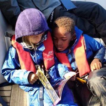 Boat school during crossing