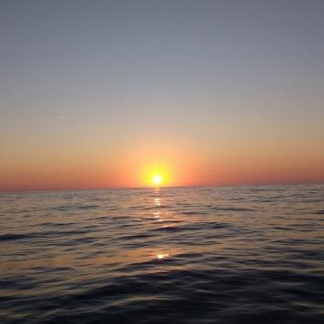 Crossing sunset