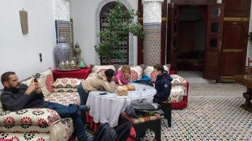 Soledad crew at Fez riad