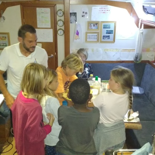 kids preparing dinner at Soledad