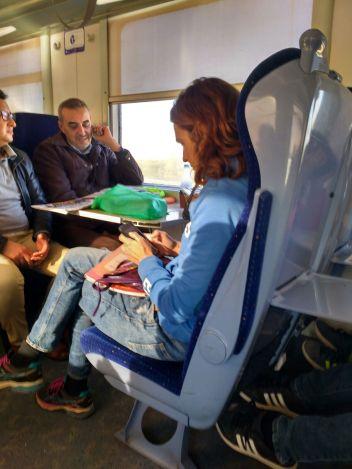 Morocco second class train seat