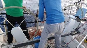 Removing fishing net
