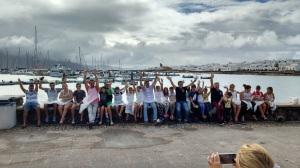Kids enjoying La Graciosa