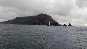 Sailing from La Graciosa to Arrecife