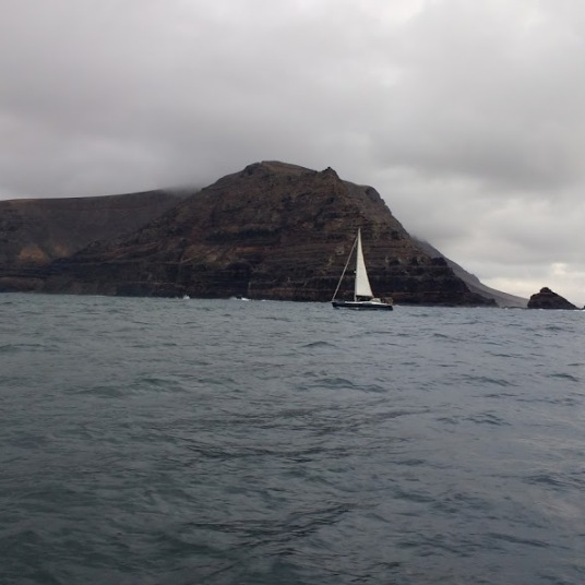Sailing from La Graciosa to Arrecife