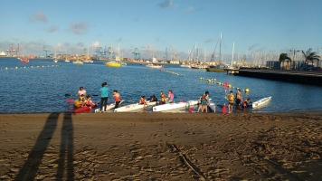 SV Soledad practicing kayak