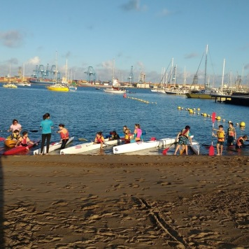 SV Soledad practicing kayak