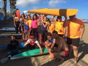 SV Soledad at kayak lesson