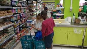 SV Soledad crew helping with shopping