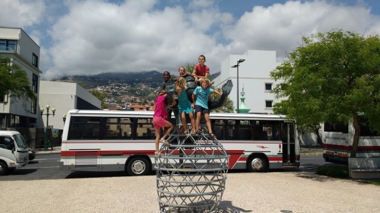 Dunia and Soledad kids at Funchal