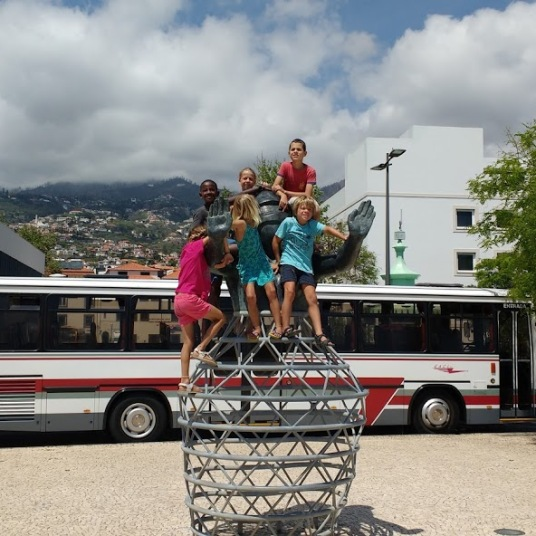 Dunia and Soledad kids at Funchal