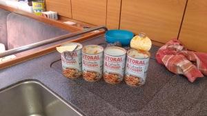 Spanish fabada stock