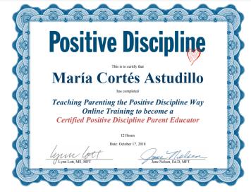 Positive discipline certification
