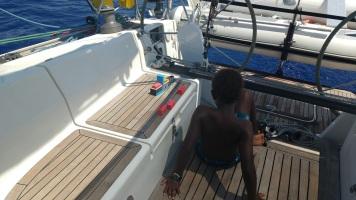 Playing during sailing passage