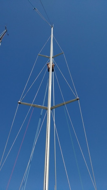 Preparing the mast for wintering
