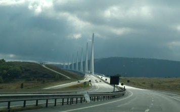 Car trip Millau viaduct